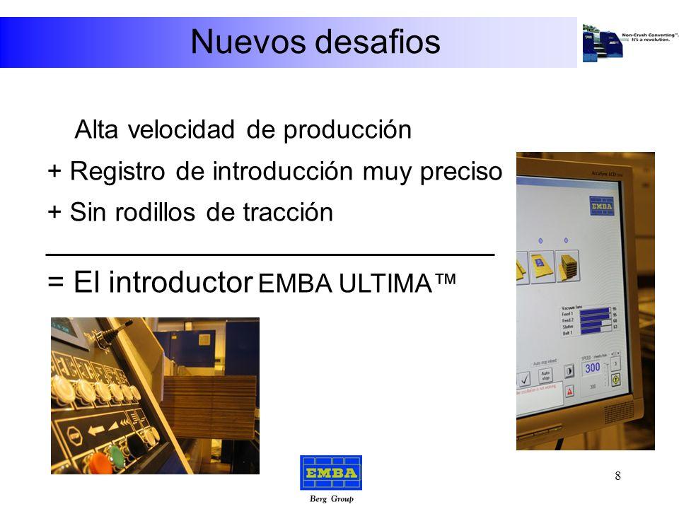 Nuevos desafios Transporte por vacío Introductor ULTIMA Magna VSC Slotter El concepto de Convertir Sin Aplastar 7