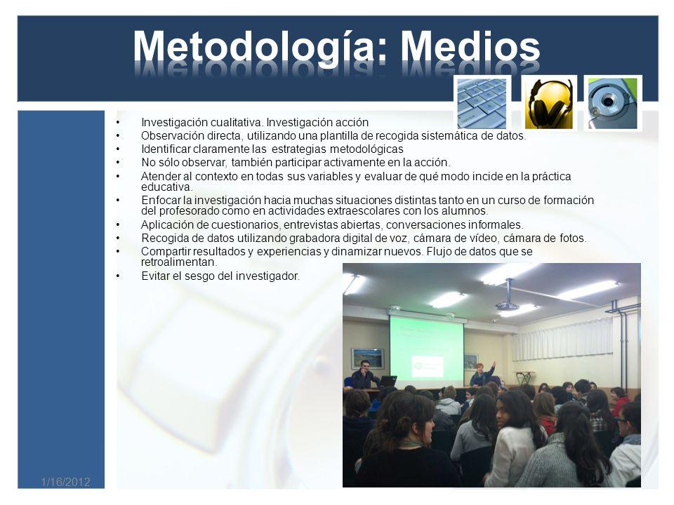 1/16/2012 Investigación cualitativa.
