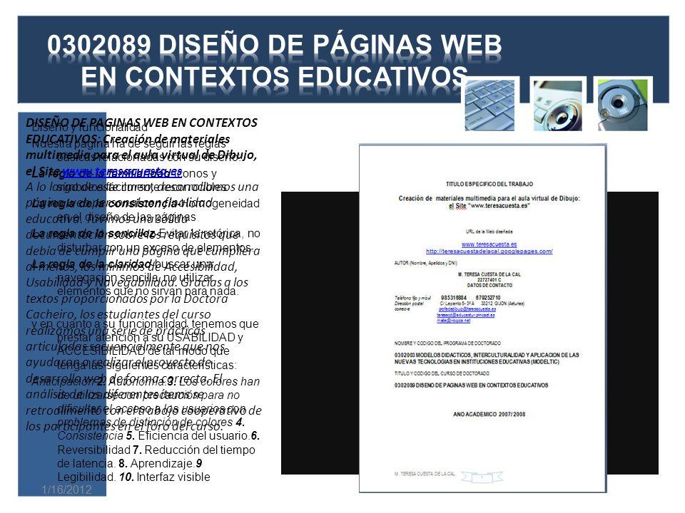 1/16/2012 Previamente a la exposición de los datos y su posterior análisis, y siguiendo los apartados del texto de la Dra.