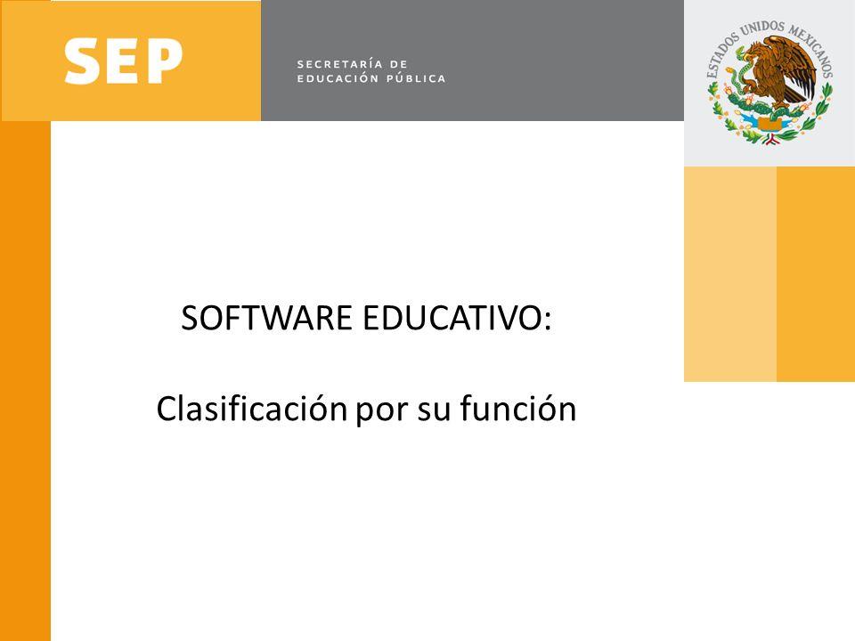 SOFTWARE EDUCATIVO: Clasificación por su función