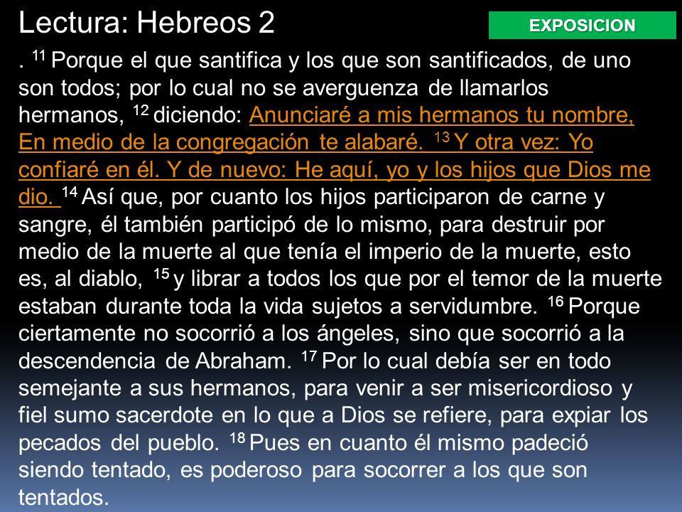 Lectura: Hebreos 2.