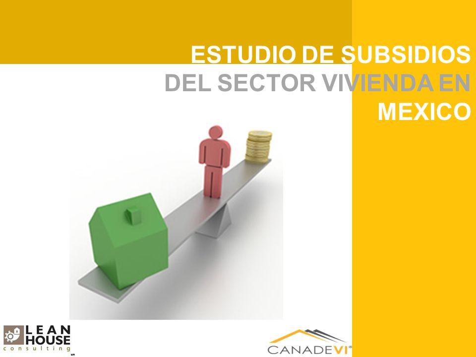 ESTUDIO DE RENTABILIDAD DEL SECTOR VIVIENDA EN MEXICO ESTUDIO DE SUBSIDIOS DEL SECTOR VIVIENDA EN MEXICO