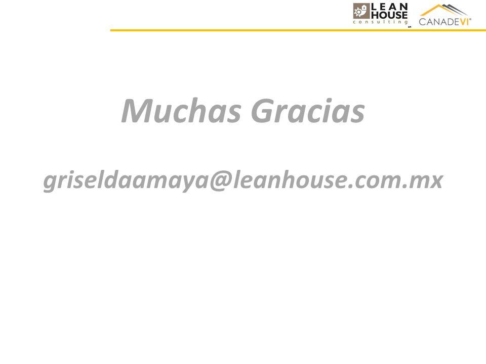 Muchas Gracias griseldaamaya@leanhouse.com.mx