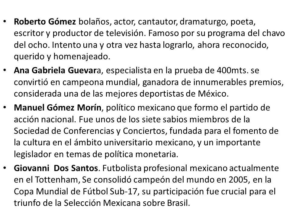 Roberto Gómez bolaños, actor, cantautor, dramaturgo, poeta, escritor y productor de televisión. Famoso por su programa del chavo del ocho. Intento una
