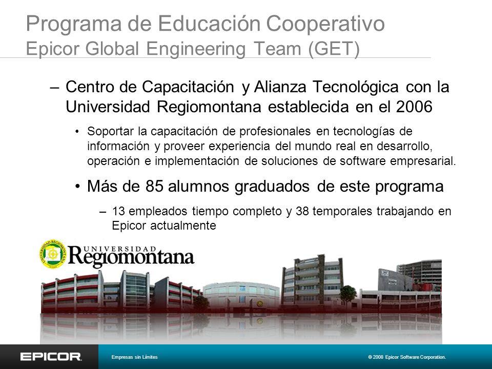 Programa de Educación Cooperativo Epicor Global Engineering Team (GET) –Centro de Capacitación y Alianza Tecnológica con la Universidad Regiomontana e