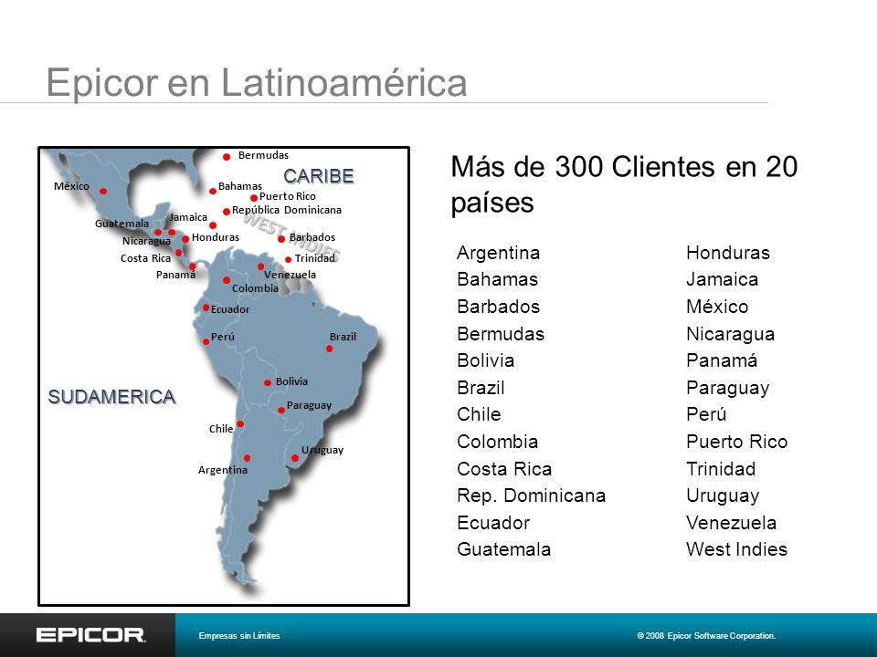 Epicor en Latinoamérica SUDAMERICA CARIBE Argentina Jamaica Honduras Guatemala Ecuador República Dominicana Costa Rica Colombia Chile Brazil Bolivia B