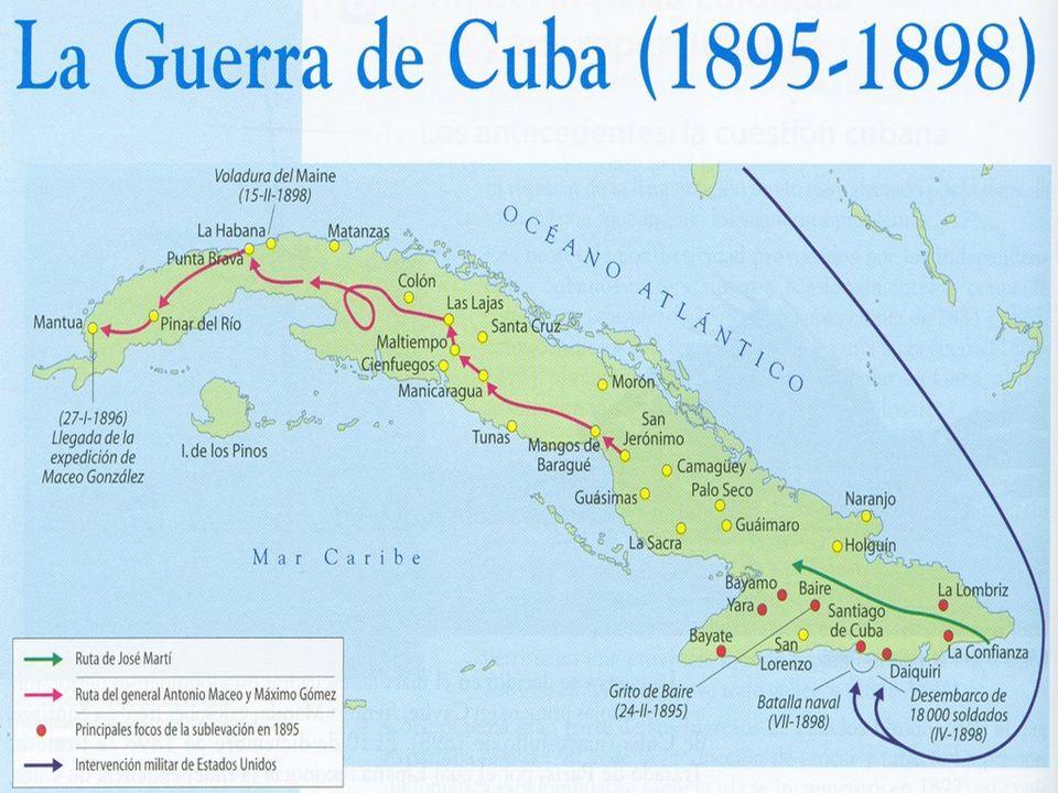 La guerra de la independencia cubana fue el último de los tres grandes conflictos que desde 1868 hasta 1898 enfrentaron a los independentistas cubanos con las tropas coloniales españolas.