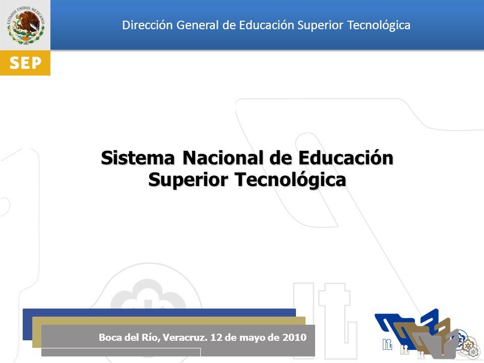 Dirección General de Educación Superior Tecnológica Sistema Nacional de Educación Superior Tecnológica Boca del Río, Veracruz.