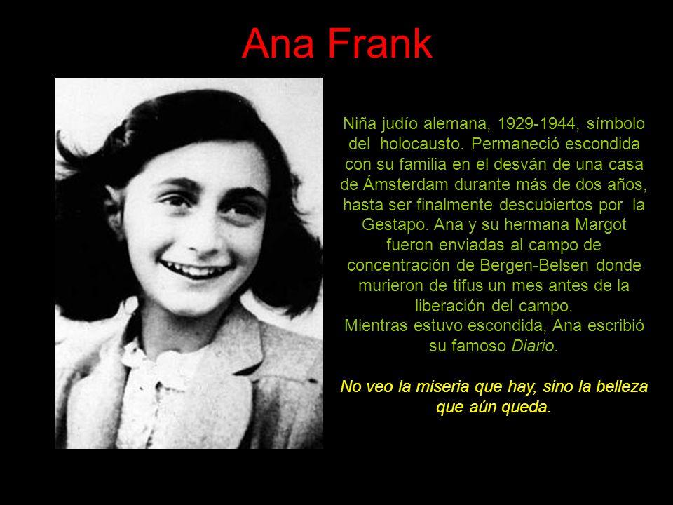 Ana Frank Niña judío alemana, 1929-1944, símbolo del holocausto.