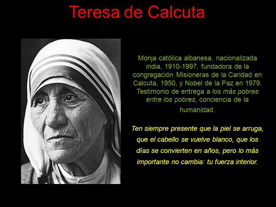 Teresa de Jesús Teresa de Cepeda y Ahumada, 1515-1582. Religiosa carmelita que, con Juan de la Cruz, llevó a cabo la reforma del Carmelo. Caminante in