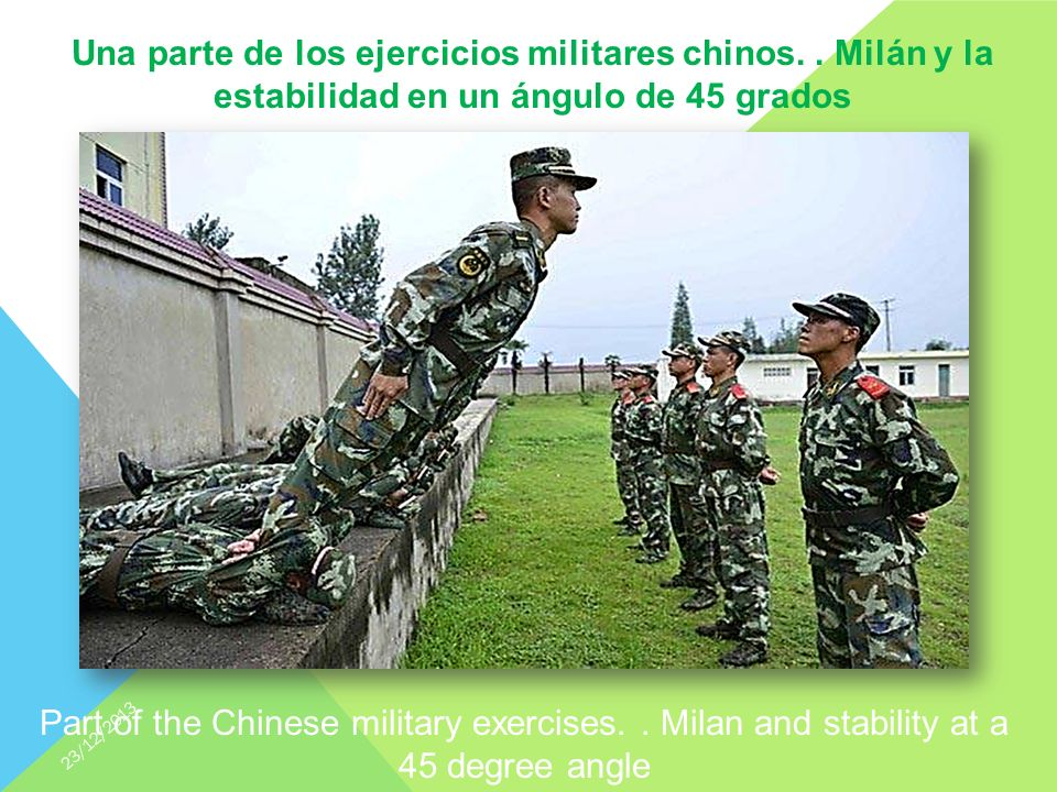 Part of the Chinese military exercises..