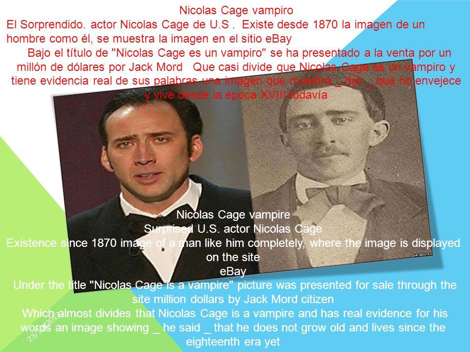 Nicolas Cage vampire Surprised U.S.