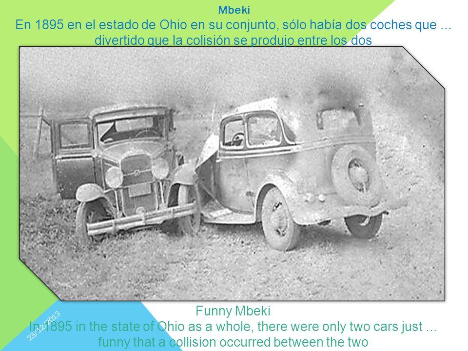 Mbeki En 1895 en el estado de Ohio en su conjunto, sólo había dos coches que...