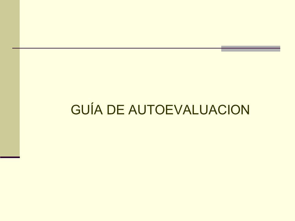 GUÍA DE AUTOEVALUACION