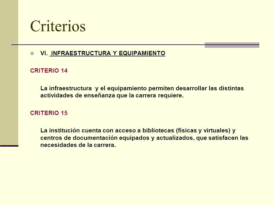 Criterios VI.
