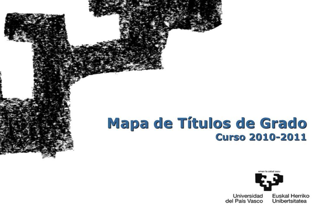 Mapa de Títulos de Grado Curso 2010-2011