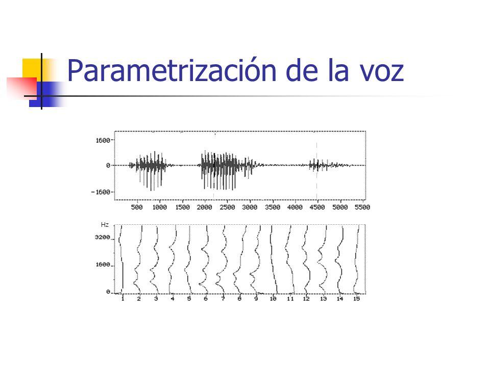 Parametrización de la voz Hz