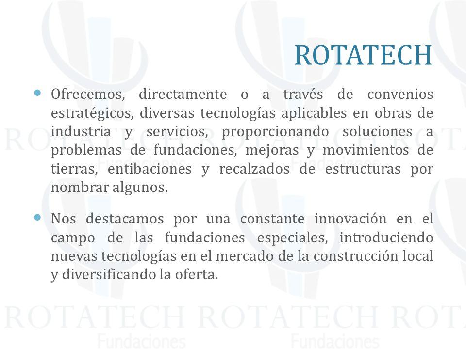 Ofrecemos, directamente o a través de convenios estratégicos, diversas tecnologías aplicables en obras de industria y servicios, proporcionando soluci