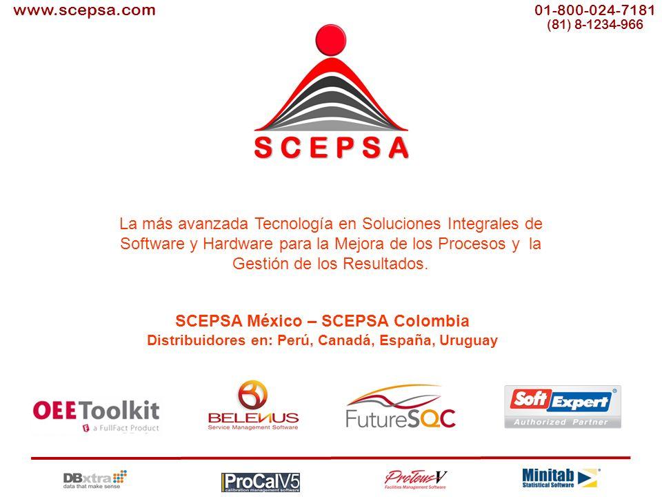 S C E P S A www.scepsa.com La más avanzada Tecnología en Soluciones Integrales de Software y Hardware para la Mejora de los Procesos y la Gestión de los Resultados.