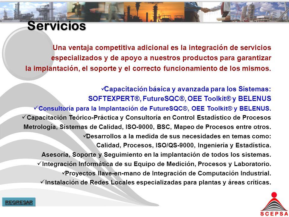 Servicios Una ventaja competitiva adicional es la integración de servicios especializados y de apoyo a nuestros productos para garantizar la implantación, el soporte y el correcto funcionamiento de los mismos.