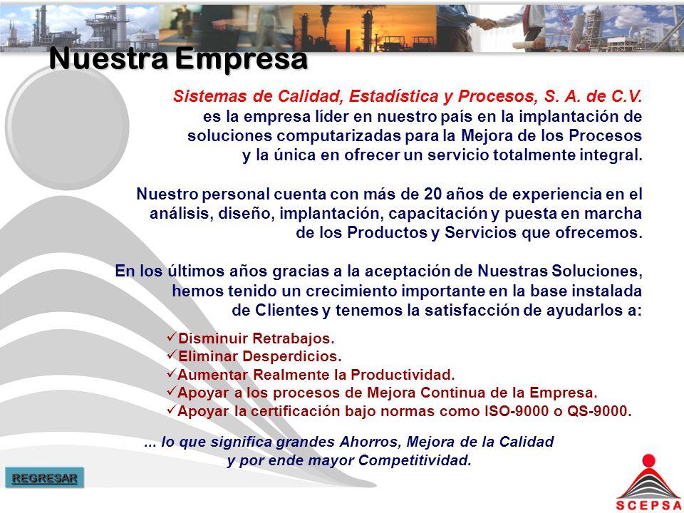 Nuestra Empresa Sistemas de Calidad, Estadística y Procesos, S.