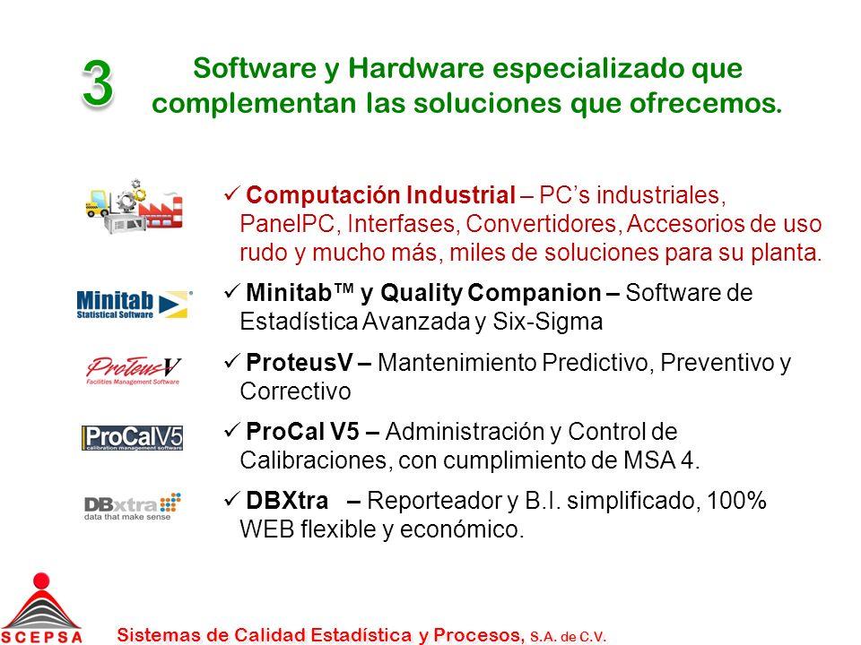 Software y Hardware especializado que complementan las soluciones que ofrecemos.