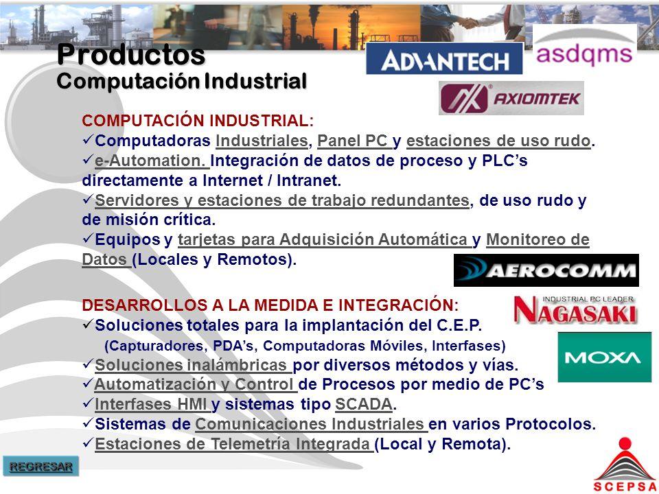 Productos Computación Industrial COMPUTACIÓN INDUSTRIAL: Computadoras Industriales, Panel PC y estaciones de uso rudo.IndustrialesPanel PC estaciones de uso rudo e-Automation.