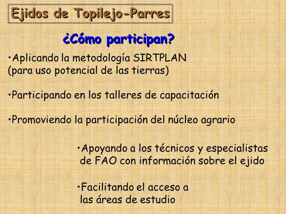 Ejidos de Topilejo-Parres ¿Cómo participan.