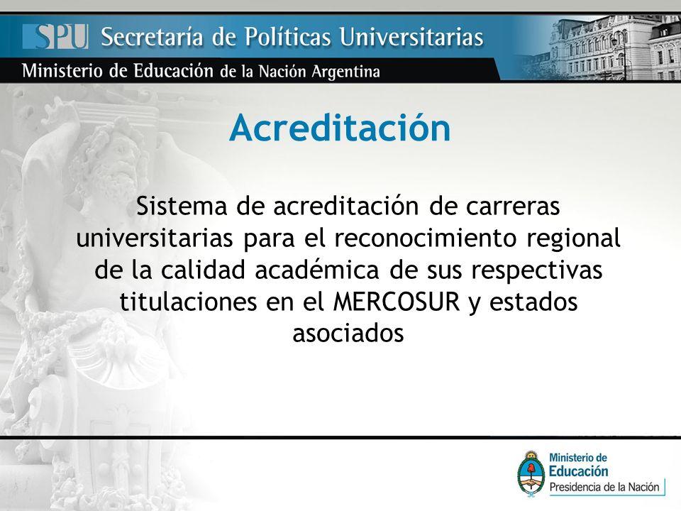 Acreditación Sistema de acreditación de carreras universitarias para el reconocimiento regional de la calidad académica de sus respectivas titulacione