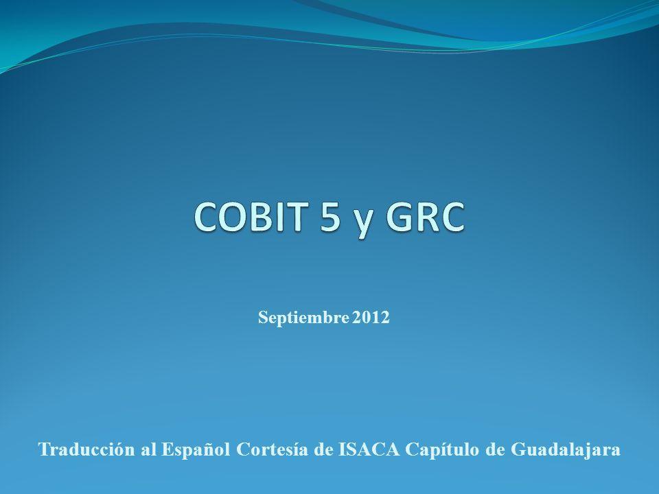 Septiembre 2012 Traducción al Español Cortesía de ISACA Capítulo de Guadalajara