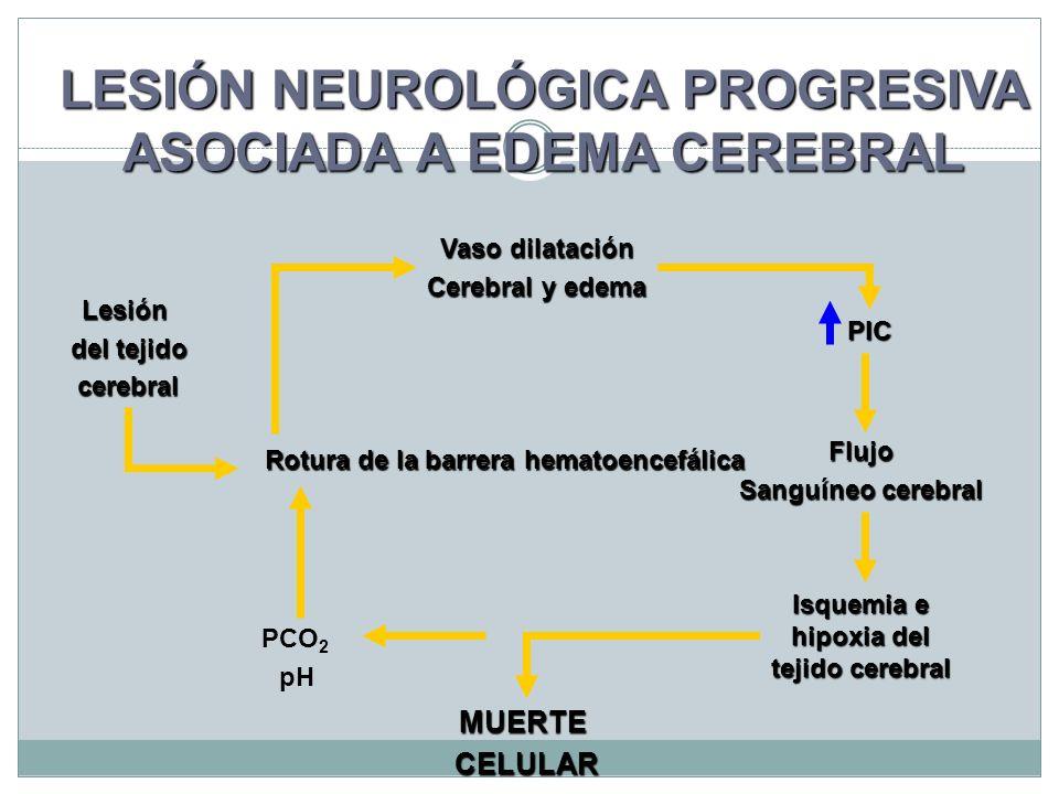 COMPLIANCE CEREBRAL PIC HERNIAS CEREBRALES BLOQUEOLCR COMPRESION TALLO CEREBRAL FALLACARDIORESPIRATORIA MUERTE