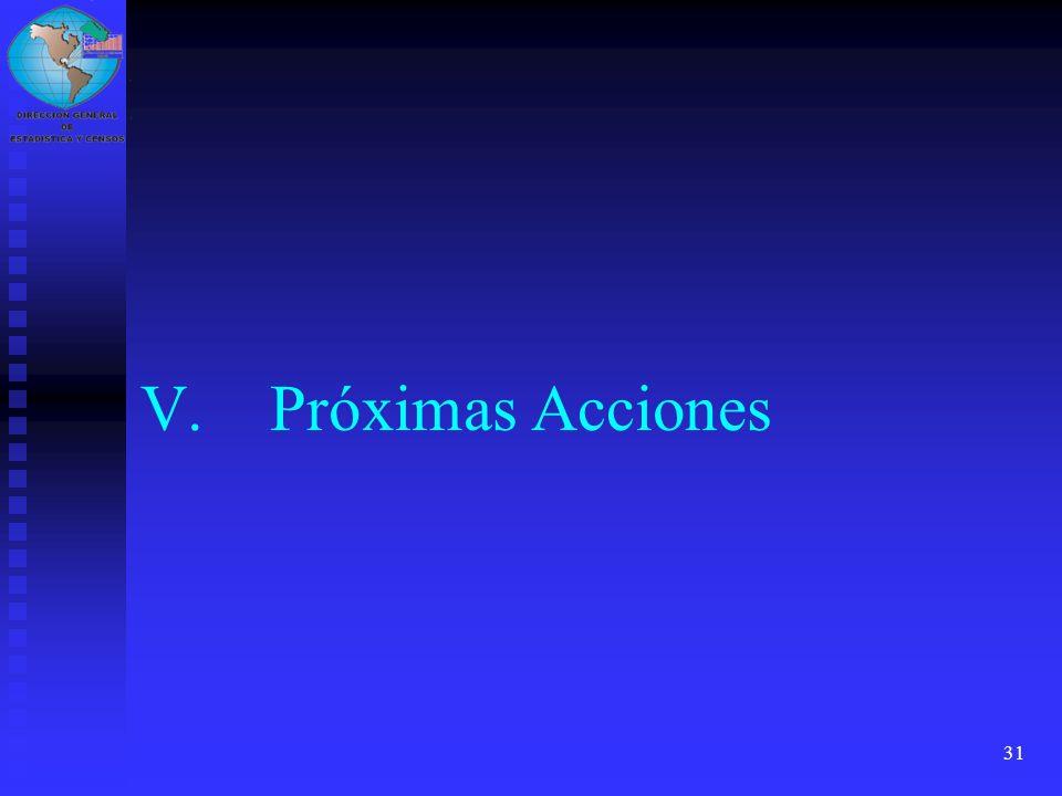 31 V.Próximas Acciones