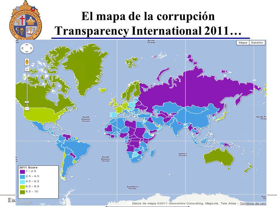 Prof. Andrés Ibáñez T.Escuela de Administración-PUC Puerto Montt, 2008 El mapa de la corrupción Transparency International 2011… Coyhaique, 2009 Bueno