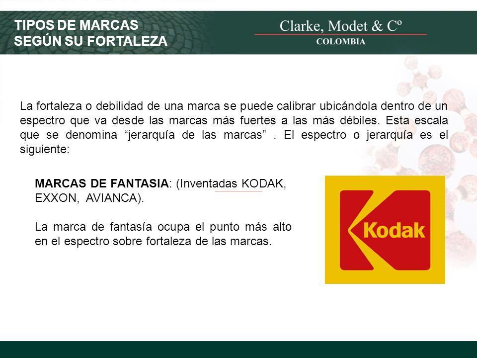 © 2008 Clarke, Modet & Cº TIPOS DE MARCAS SEGÚN SU FORTALEZA La fortaleza o debilidad de una marca se puede calibrar ubicándola dentro de un espectro