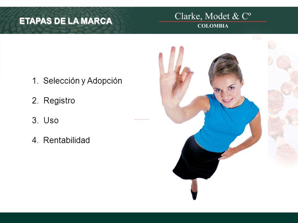 © 2008 Clarke, Modet & Cº ETAPAS DE LA MARCA 1.Selección y Adopción 2. Registro 3. Uso 4.Rentabilidad