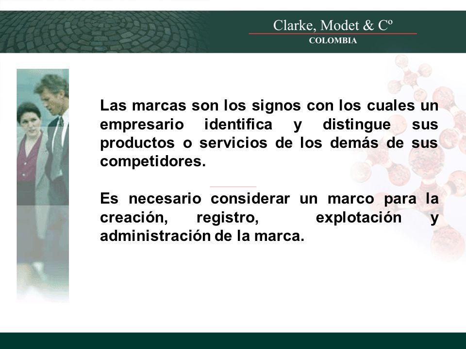 © 2008 Clarke, Modet & Cº Las marcas son los signos con los cuales un empresario identifica y distingue sus productos o servicios de los demás de sus