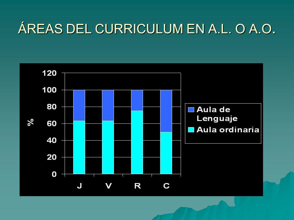 ÁREAS DEL CURRICULUM EN A.L. O A.O.