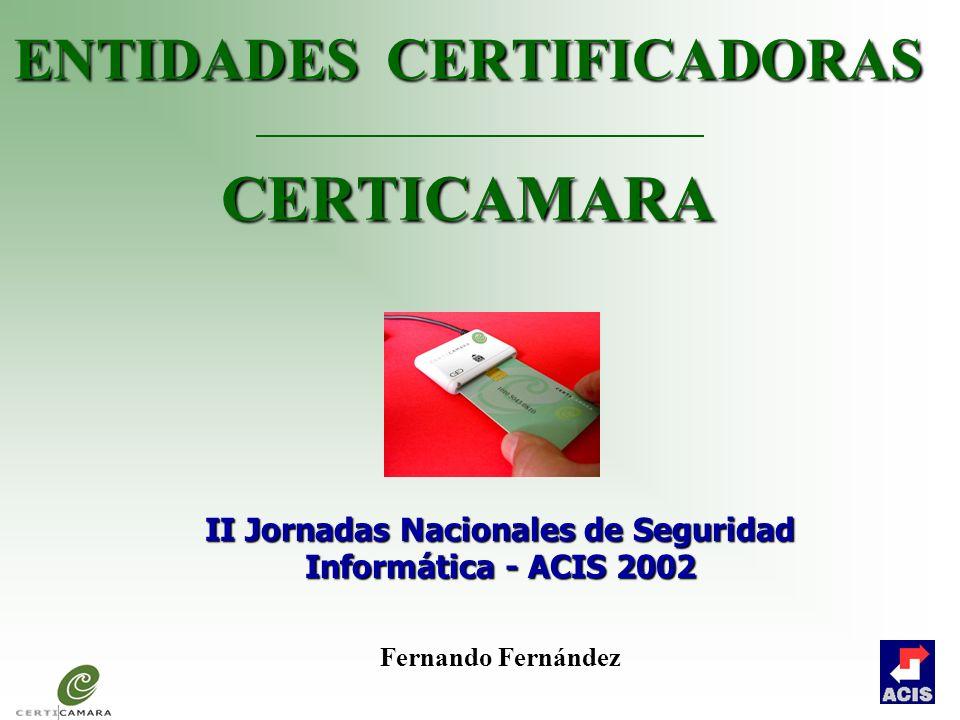 ENTIDADES DE CERTIFICACIÓN