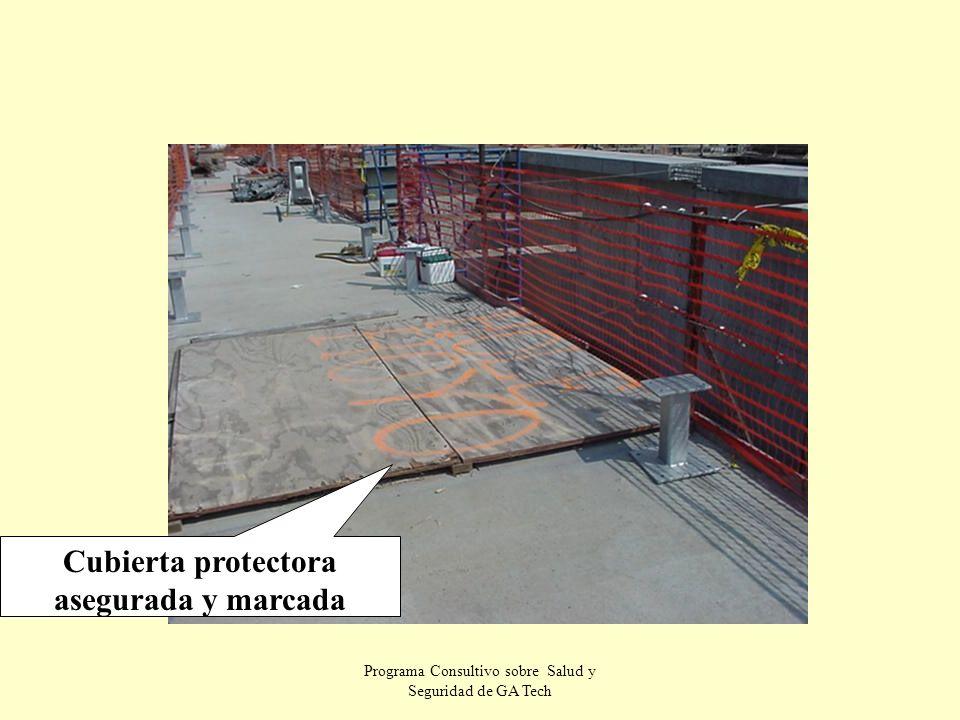 Programa Consultivo sobre Salud y Seguridad de GA Tech Cubierta protectora asegurada y marcada