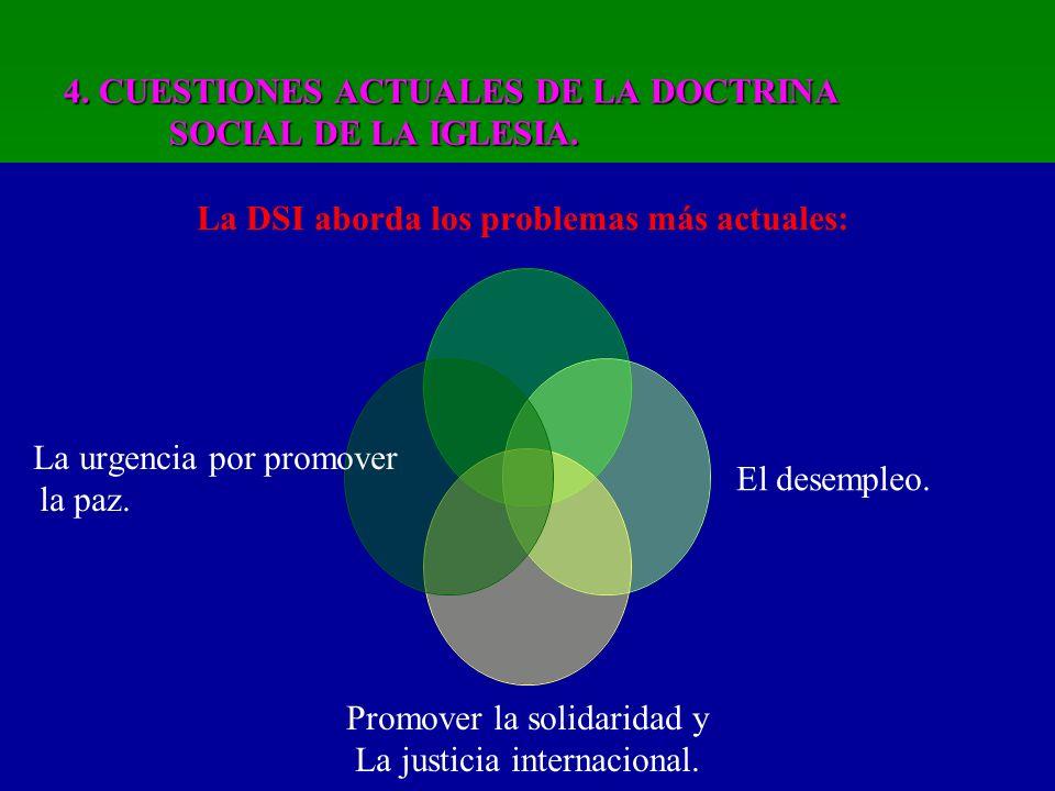 4.CUESTIONES ACTUALES DE LA DOCTRINA SOCIAL DE LA IGLESIA.
