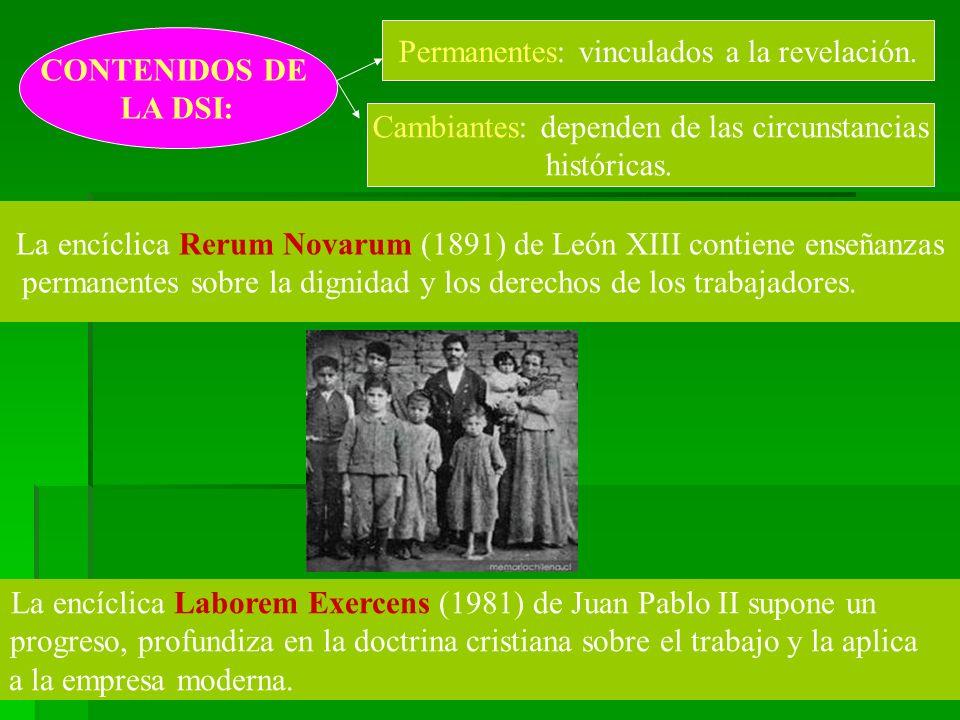 CONTENIDOS DE LA DSI: Permanentes: vinculados a la revelación.