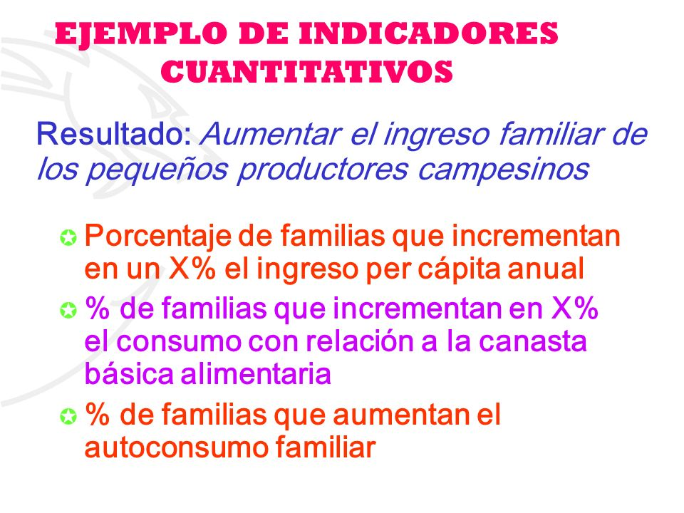 14 Porcentaje de familias que incrementan en un X% el ingreso per cápita anual % de familias que incrementan en X% el consumo con relación a la canast