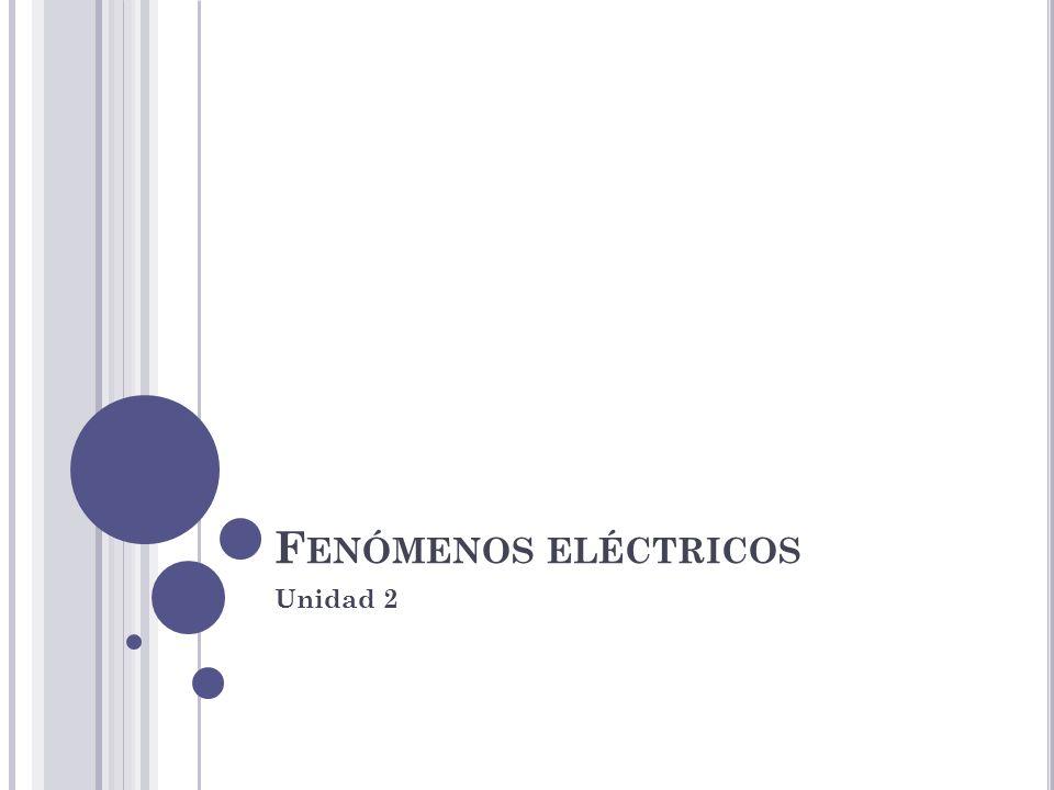F ENÓMENOS ELÉCTRICOS Unidad 2