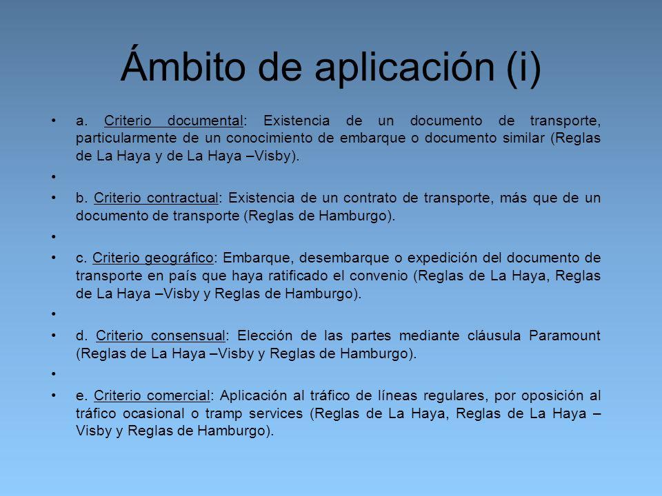 Ámbito de aplicación (i) a.
