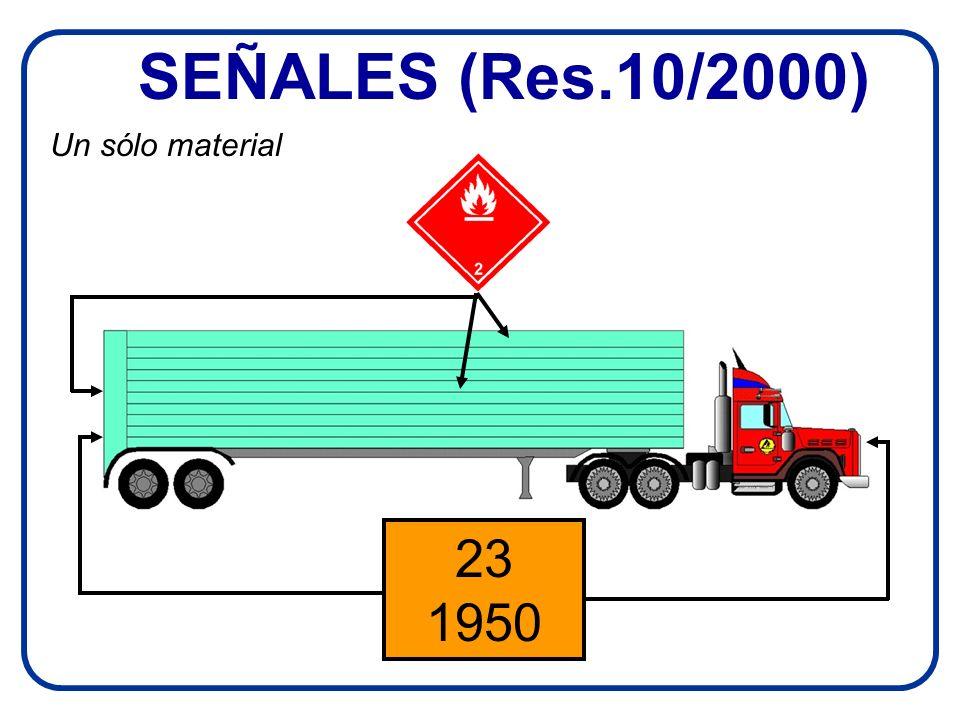 SEÑALES (Res.10/2000) 23 1950 Un sólo material