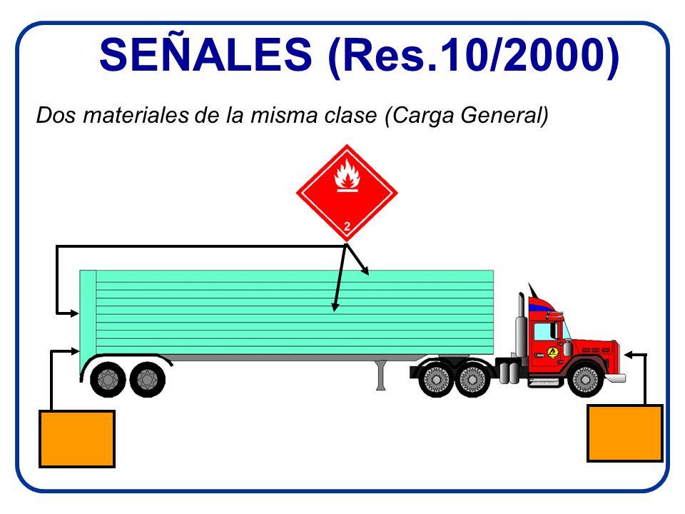 SEÑALES (Res.10/2000) Dos materiales de la misma clase (Carga General)
