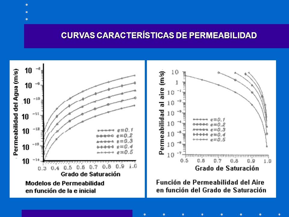 CURVAS CARACTERÍSTICAS DE PERMEABILIDAD