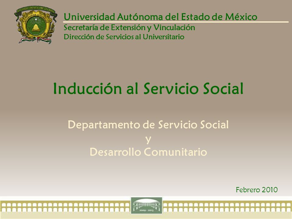 Servicio Social y Desarrollo Comunitario ANTECEDENTES Esta idea surge por académicos de la Facultad de Ciencias Agrícolas de la UAEM, como un medio para contribuir en la formación de los universitarios, a través de un trabajo en equipos multidisciplinarios y en espacios externos.