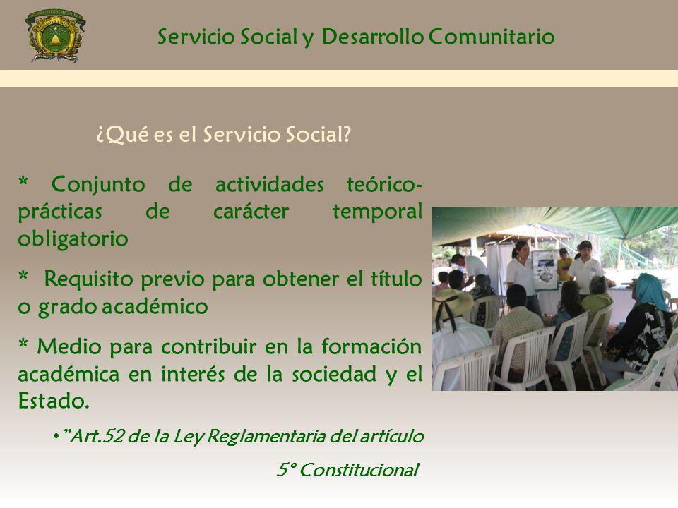 Servicio Social y Desarrollo Comunitario Lineamientos Generales: 13.- La tercera falta injustificada, causara baja automática, sin considerar el tiempo de prestación del servicio social realizado hasta ese momento.