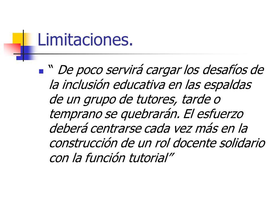 Limitaciones.